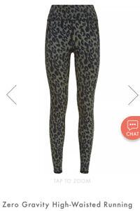 Sweaty Betty Zero Gravity High Waisted Running Leggings M Full Length Leopard BN
