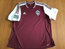 Adidas Climacool brand Colorado Rapids maroon and white soccer jersey size 2XL!