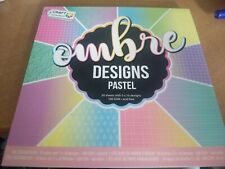 DESIGNPAD 50 SHEETS OMBRE DESIGNS PASTEL   FOR MAKE CARDS 15X15 CM NEW