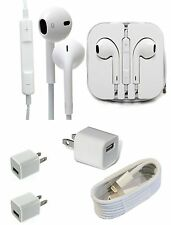 Combo iPhone Original Hands Free + USB Cable + Adapter For iPhone 5 5s 6 6s