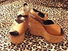 Chaussures vintage vintage véritable marron pour femme décennie 1970
