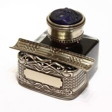 Italy Bortoletti Special Edition CAL60 Nickel Silver Inkwell + Black ink