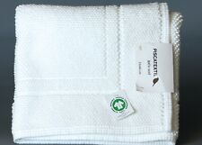 PISCATEXTIL WHITE 2- LINES BORDER Jacquard 100% Cotton Bath Mat 3' x 2' PORTUGAL