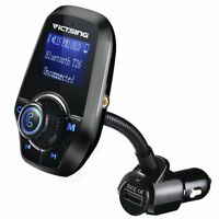 Transmisor FM bluetooth para Coche Manos Libres Cargador USB MP3 Radio Negro