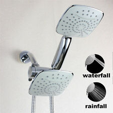 """Luxury 4.6"""" Dual Shower Head Combo System with 3-Way Diverter shower arm Chrome"""