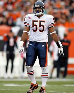 LANCE BRIGGS 8X10 PHOTO CHICAGO BEARS PICTURE NFL