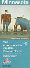 1976 STANDARD OIL COMPANY Paul Bunyan Blue Ox Road Map MINNESOTA Minneapolis