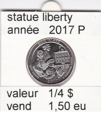 e1 )pieces de 1/4 dollar de statue liberty 2017  P