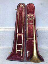 Vintage Bessen Trombone Made In England Musical Instrument