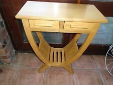 solid oak console table console sideboard hall table with drawer