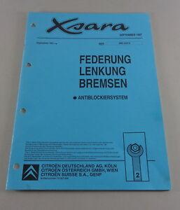 Manual de Taller Citroën Xsara Suspensión, Dirección, Frenos 09/1997