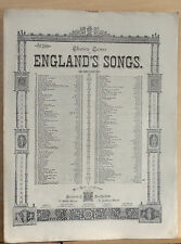 The Yeoman's Wedding Song - 1880's sheet music - by Hayes & Poniatowski