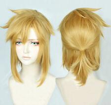 The Legend of Zelda Link Short Golden Pony tail Cosplay Hair Wig + Cap