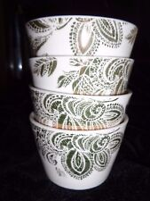 NICOLE MILLER APPETIZER BOWLS  SET OF FOUR  WHITE/GOLD  4.5 X 3  NMH12
