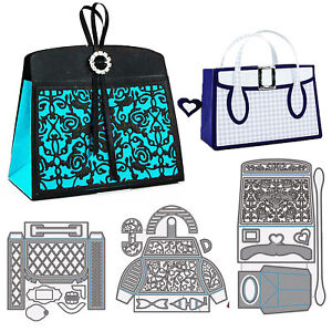 Lady Handbag Metal Cutting Dies Stencils Scrapbooking Embossing Paper Craft DIY
