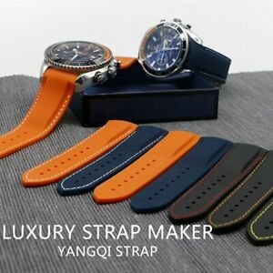 19 20 21 22mm Rubber Silicone Watch Band Strap Fit For Omega Seamaster 232 +Tool