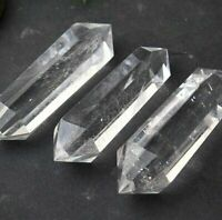 "10Pcs 2.8"" Natural Rock Clear Quartz Crystal Point Healing DT Stone Wand Reiki"