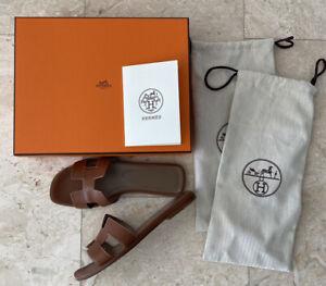 hermes oran sandals gold 37