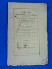 OPINIONS DES HOMMES POLITIQUES ET DES SAVANTS SUR LE SEL 1846