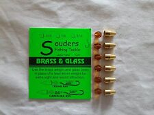 1/16 oz Brass Ticker & Glass Beads - Brass