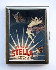Petrole Stella Art Deco advertisement Cigarette Case id case Wallet