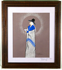 "Original Watercolor Painting ""Wisdom""  by artist Hunting Horse"