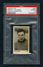 PSA 2 NEWSY LaLONDE 1924 Maple Crispette Hockey Card #27 NICE