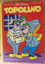 Topolino n.° 1157 Fumetto Disney Topolino Gennaio 1978