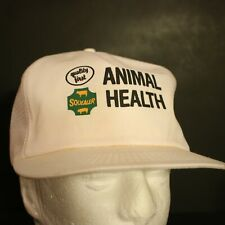 Vintage K Products Trucker Hat Cap Retro Snapback Animal Health Squealer