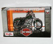 Maisto - Harley Davidson 2012 XL 1200V SEVENTY-TWO (Green) Model Scale 1:18