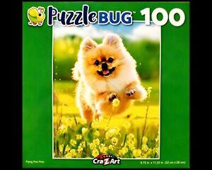 100 Piece Jigsaw Puzzle Puzzlebug 9 in. x 11 in., Flying Pom Pom