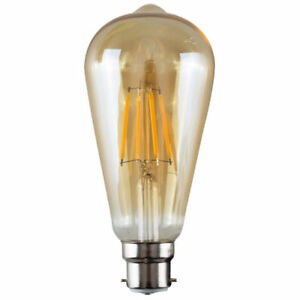 Vintage Industrial Filament Light Bulb Lamps Cage Edison E27 Amber Pear SALE