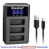 Kastar Battery LCD Triple Charger for SJCAM SJ4000B SJ4000 & SJCAM SJ9000 Camera