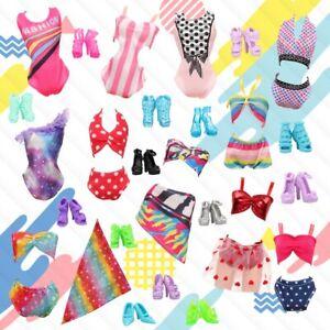 NEW 20pcs Barbie Doll Clothes Swimwear Bikini's TEN Outfits Supplied