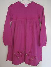 Naartjie 10 Dress Pink Sequin Bird Flower Embroidery Long Sleeve Girls
