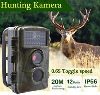 1080P HD Wildkamera IR LED Überwachungskamera Scouting Hunting Camera Outdoor