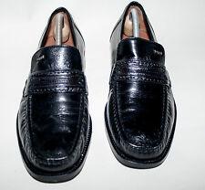 BUGATTI ♦ Slipper ♦ Schuhe ♦ Gr. 42   ♦  *TOPst * hand genäht  ♦ schwarz ♦ Leder