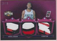 GREG ODEN 2007-08 TOPPS TRIPLE THREADS 3 CLR PATCH #13/18 PORTLAND TRAIL BLAZERS