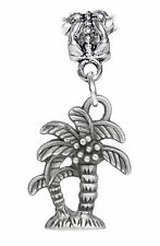 Palm Tree Tropical Island Beach Vacation Dangle Charm for European Bead Bracelet