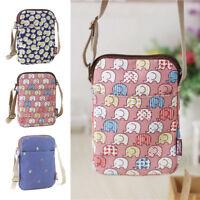 Women Girls Cute Canvas Cross Body Bag Cell Phone Purse Wallet Shoulder Handbag