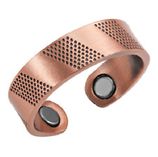 Bague magnétique en cuivre avec aimants - Texturé