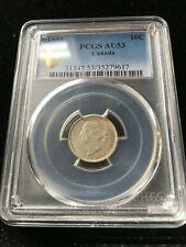 1889 , PCGS Graded Canadian,  10 Cent, **AU-53**