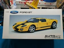 Autoart 1:18 Millennium (First Issue) 2004 FORD GT - YELLOW/w BLACK Stripes