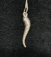 NEW Sterling Silver Cornicello Charm Stamped 925 Italy Horn Chilli CORNO Lucky