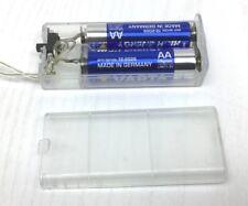 Caja de soporte de la batería con interruptor de encendido/apagado y cubierta para baterías 2AA 1 Pieza