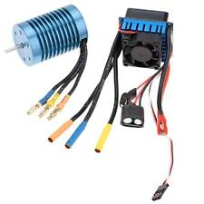 3650 4370KV 4P Sensorless Brushless Motor with 45A Brushless ESC for 1/10 RC Car