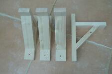 """Wooden Shelf Brackets x 4 (Ideal for 6"""" Shelves)"""