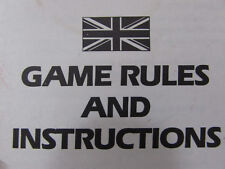 MODERN & VINTAGE BOARD GAMES INSTRUCTIONS LOTS OF CHOICES ALL ORIGINALS