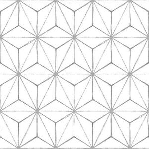 WallPops Bathroom/Kitchen Kikko Peel & Stick Floor Tiles Grey/White 10pk FP2481