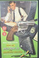 Partial 1959 Mattel Detective Shootin' Shell Snub Nose 38 Holster Target Box